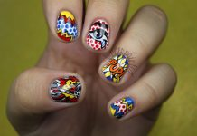 Pop Art Short Nail Design