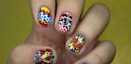 Pop Art Short Nail Design