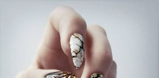 Studded Marble Nail Art