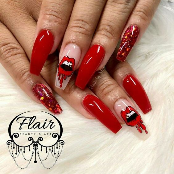 30 Classic Pop Art Nail Design Nail Design Ideaz