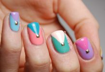 Studded Triangle Nail Design