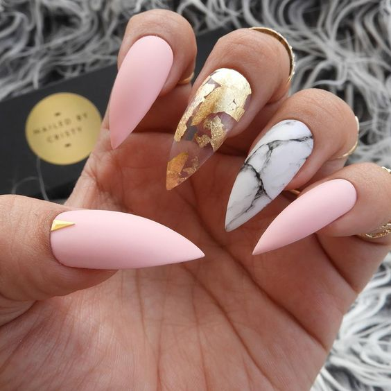 40 stiletto nails designs that are absolutely on point