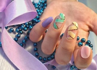 Ribbon Inspired Nail Design