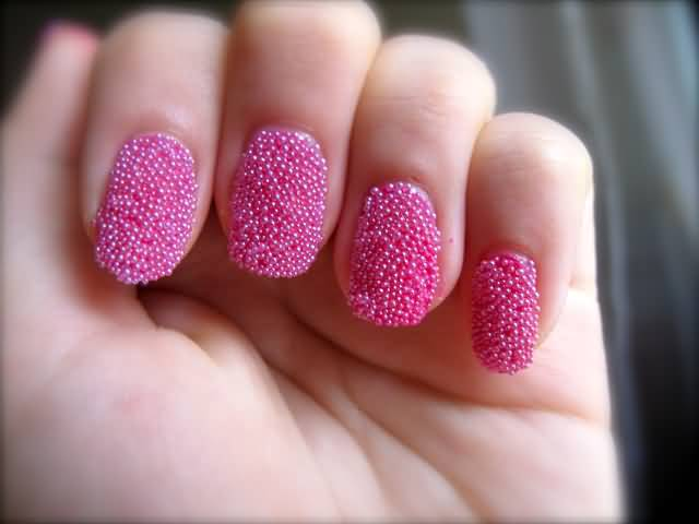 33Textured Pink Nails - 38 Girly Nail Designs That Are Definitely Worth Stealing Nail