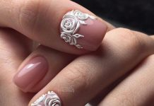 3D Roses Nail Art