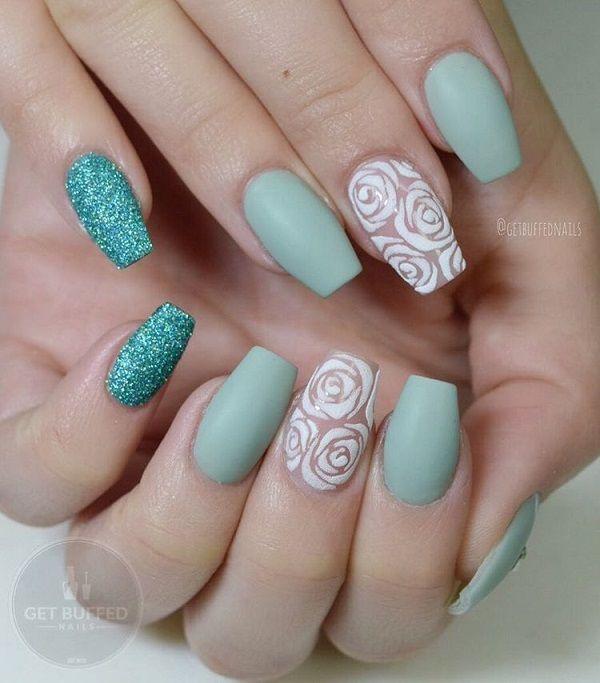 40 Breathtakingly Beautiful Roses Nail Design Nail Design Ideaz