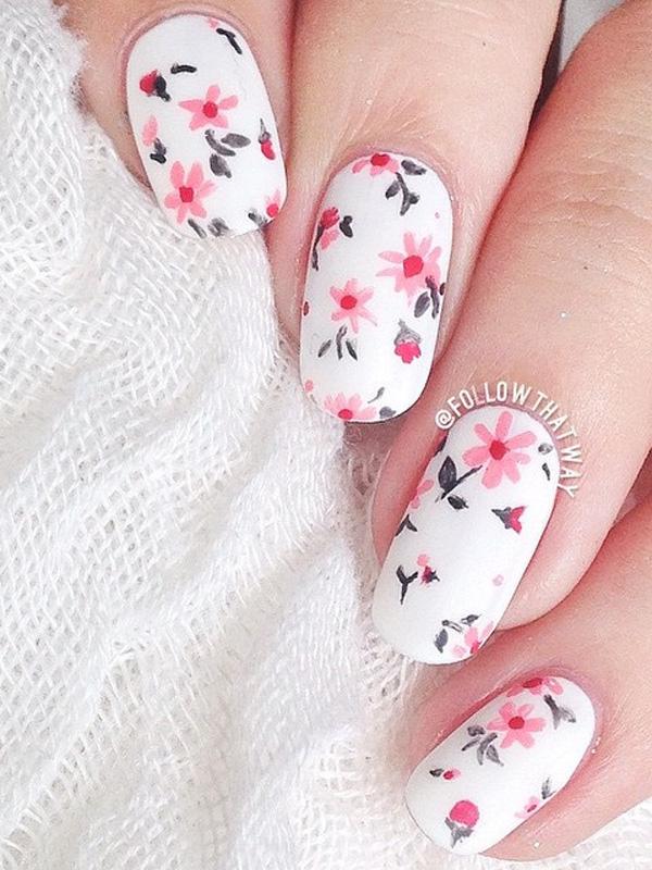 30 Gorgeous Flower Nail Design Nail Design Ideaz