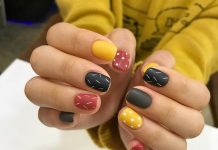 Lines And Dots Nail Art
