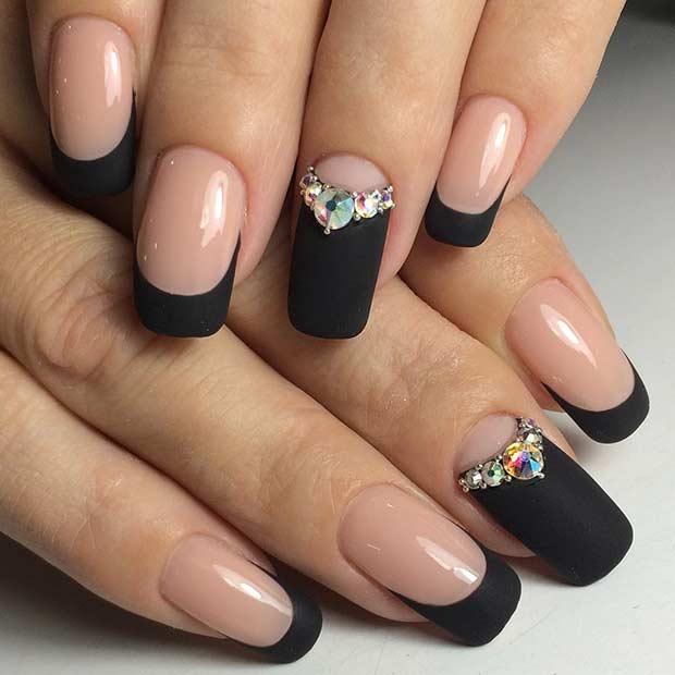 35 Edgy Matte Black Nail Designs