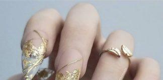 Gold Foil Nail Art