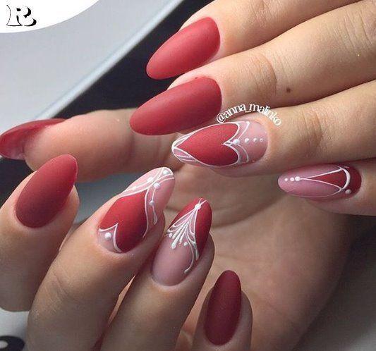 35 Must-Love Valentine's Day Nail Art