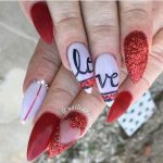 Valentines Day Coffin Nails