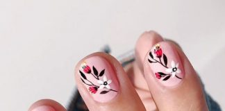 Wildflowers Nail Design