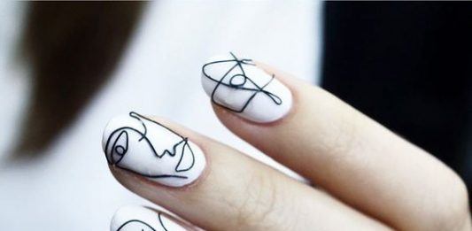 Wire Portraits Nail Art